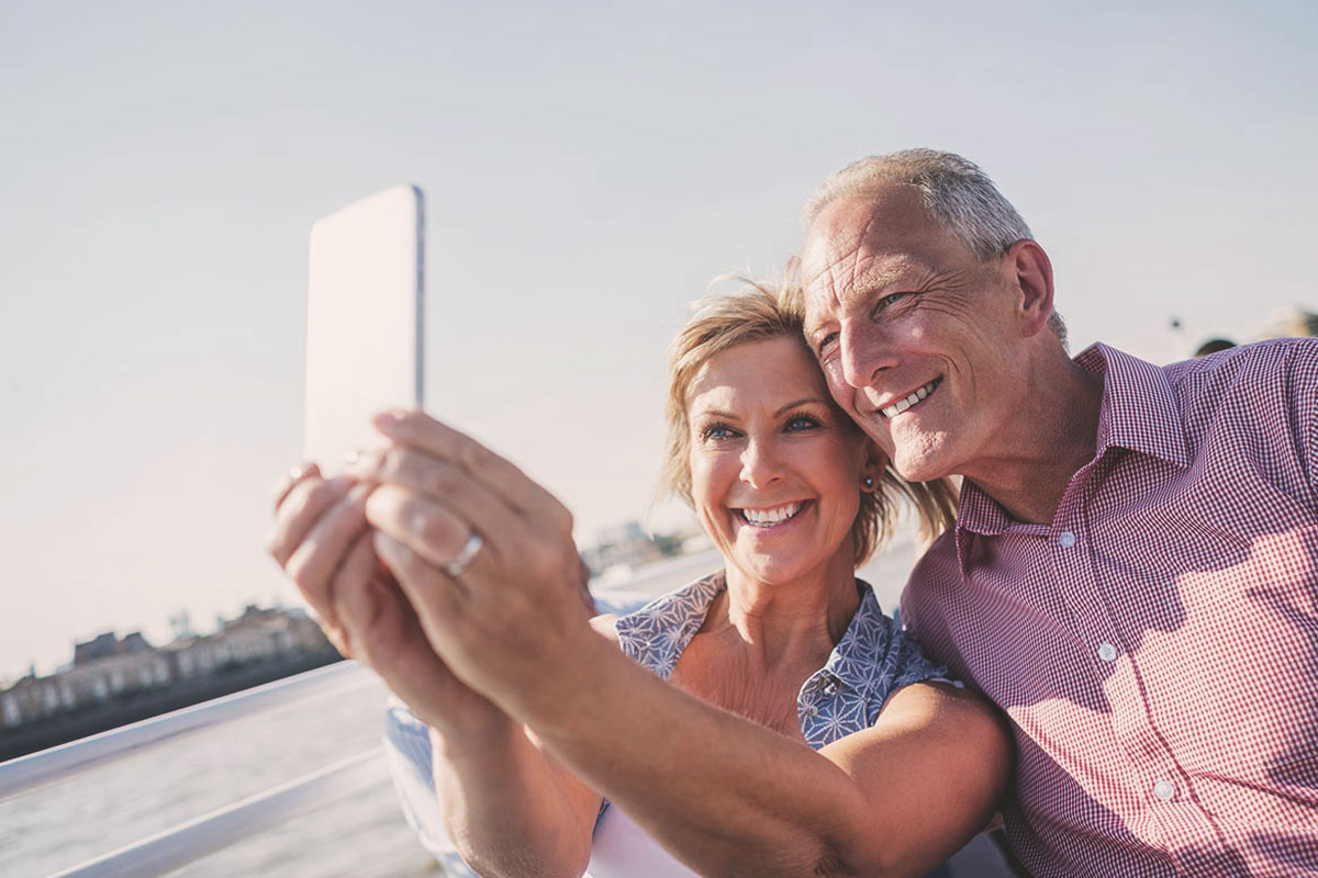 older couple selfie